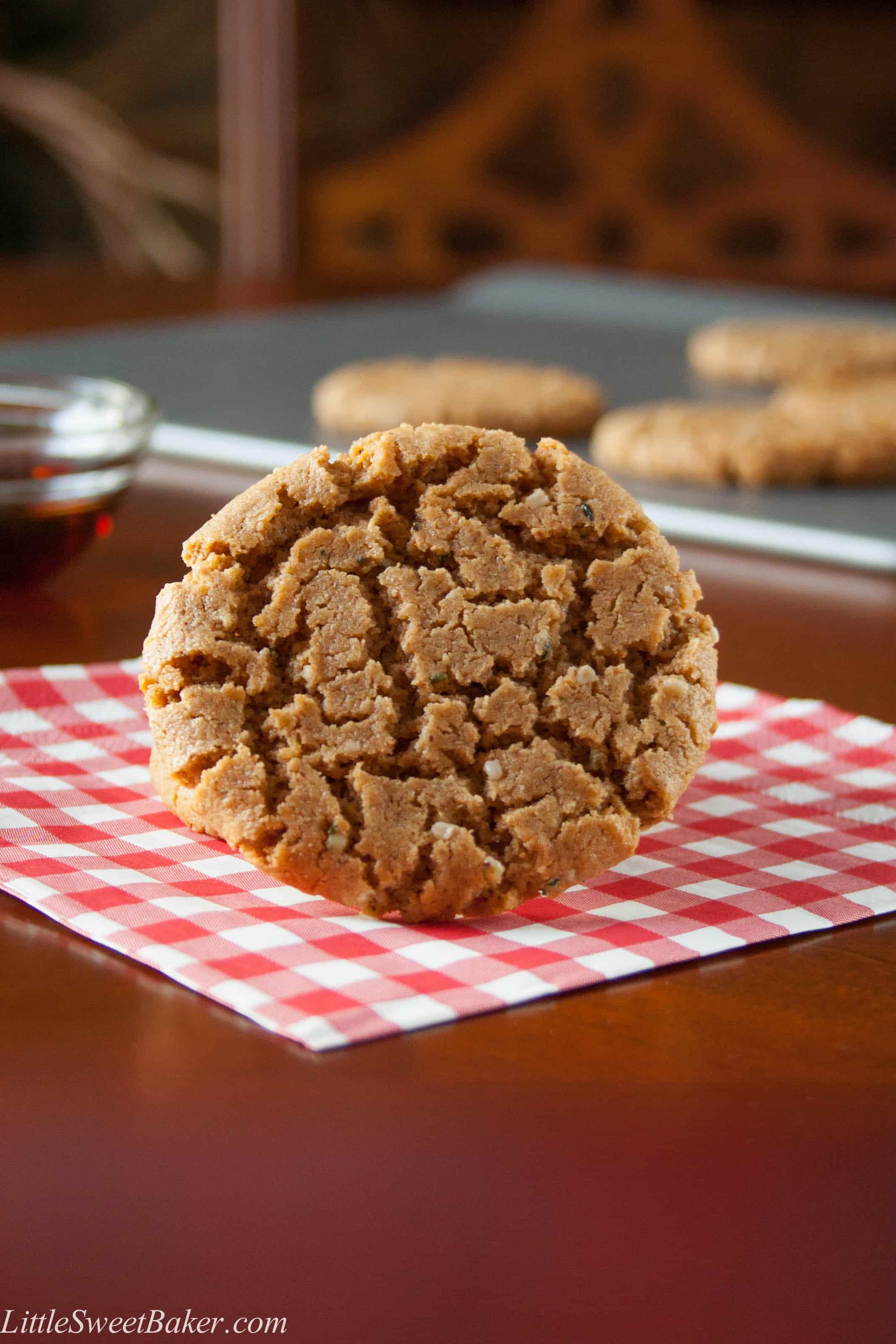 GLUTEN-FREE SPICED CASHEW BUTTER COOKIES. These chewy cookies are healthy and easy to make. If you like ginger molasses cookies, then this recipe was made for you.