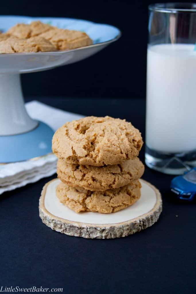 HEALTHY NATURAL PEANUT BUTTER COOKIES. These cookies are a perfect balance of sweet and salty. They are soft and melt-in-your-mouth good. Made from natural pb, gluten-free, no butter, no white sugar, quick and easy to make.