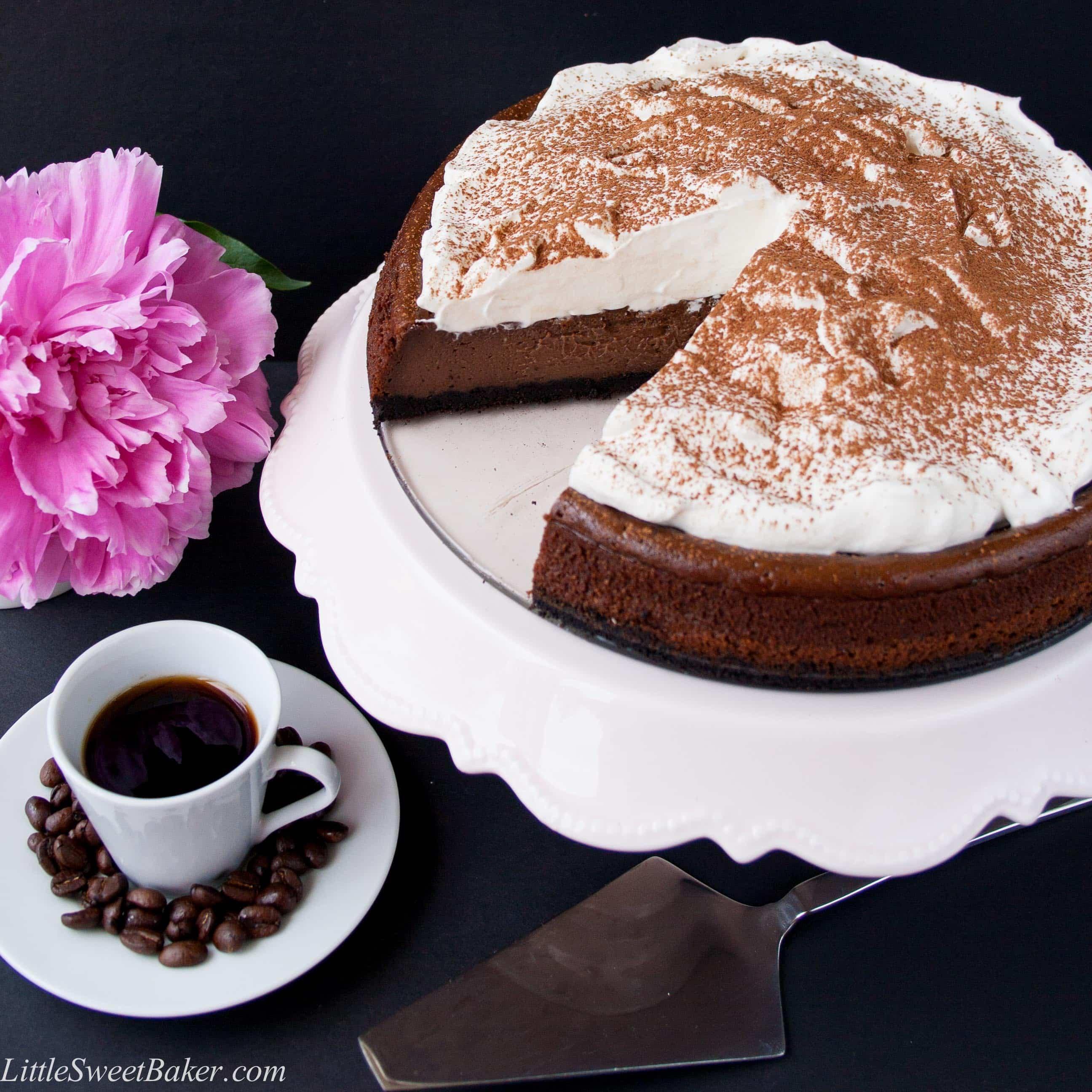 Chocolate Mocha Cheesecake - Little Sweet Baker