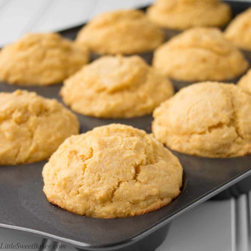 CORNBREAD MUFFINS. These hearty muffins are softer and more moist than your standard cornbread. Individual and ready-to-serve portions, they are a perfect pairing with your favorite bowl of chili or stew.